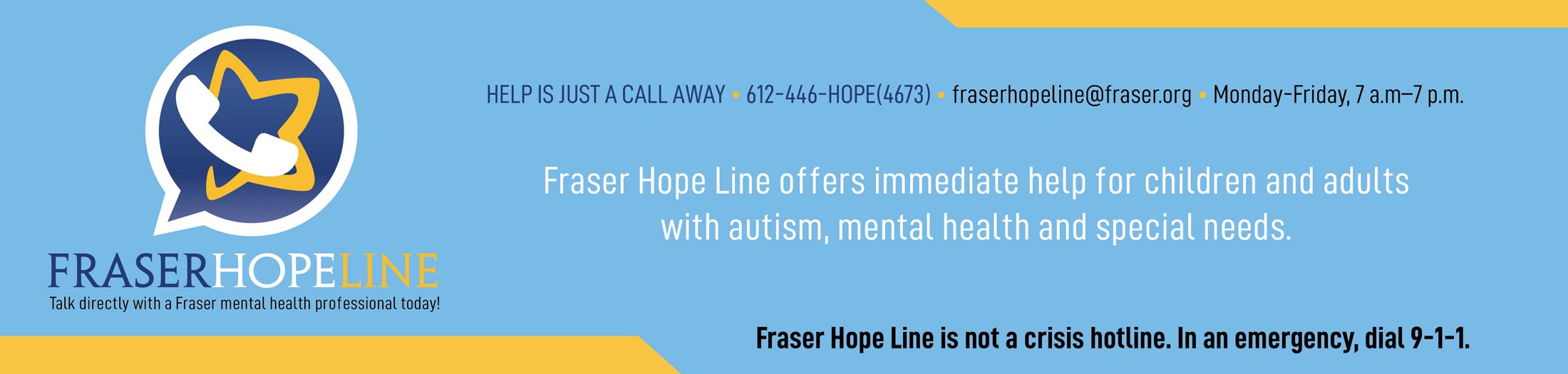 Fraser Hope Line Connects Individuals to a Mental Health Professional Immediately