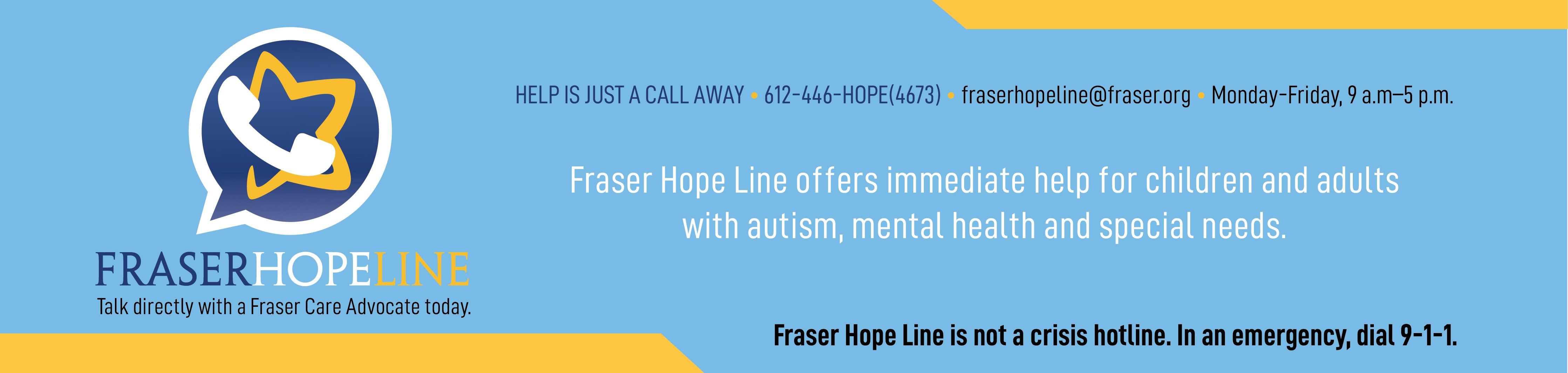 Fraser Hope Line Connects Individuals to a Care Advocate Immediately (NEW HOURS)