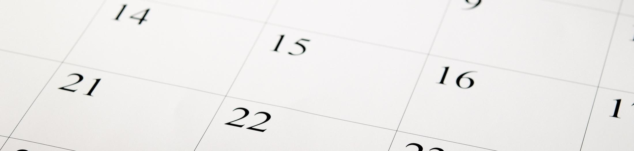 2021 Service Calendars